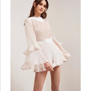 KeepSake All Mine Bell Sleeve Playsuit M